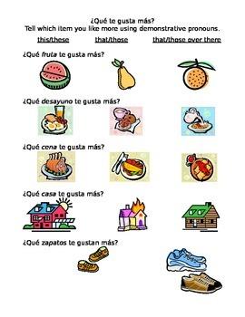 Demonstrative Adjectives & Pronouns / Adjetivos demostrati