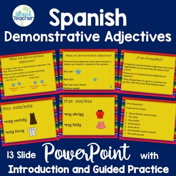 Demonstrative Adjectives Spanish PowerPoint Presentation