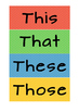 Demonstrative pronouns this these that those