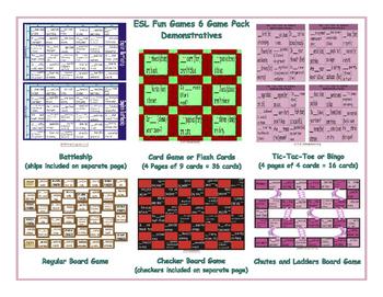 Demonstratives 6 Board Game Bundle