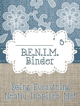 Denim, Burlap, and Lace Binder Cover
