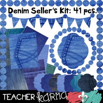 Denim Seller's Kit & BUNDLE of Clipart (FREEBIE)