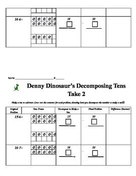 Denny Dinosaur's Decomposing Tens to Subtract