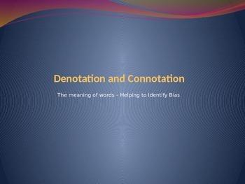 Denotation and Connotation PPT