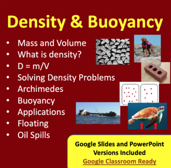 Density - Physics and Chemistry PowerPoint Lesson, Notes a