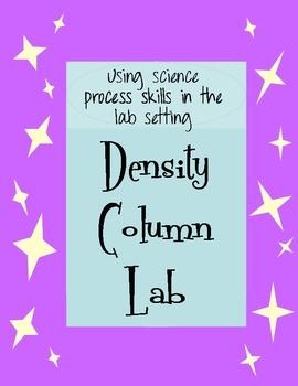 Density Column LAB using process skills