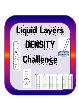 Density Inquiry Activity Experiment -Liquid Layers Challen