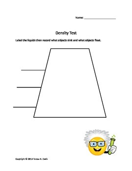 Density Test Lab Sheet