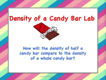 Density of a Candy Bar Lab: (Are a whole and half candy ba