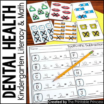 Kindergarten Dental Health Centers for Math and Literacy A