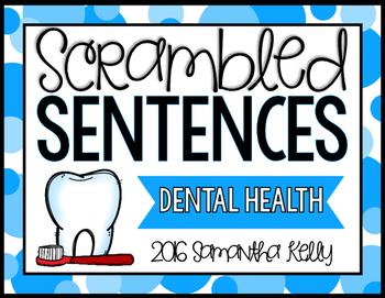 Dental Health Scrambled Sentence Station