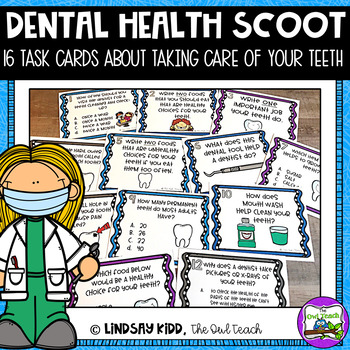 Dental Health Activity:  SCOOT Task Cards