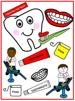 Dental Health Clip Art for Personal and Commercial Use