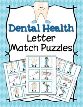 Dental Health Letter Match Puzzles