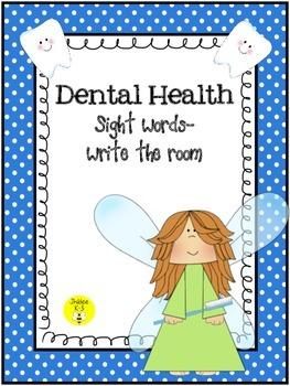 Dental Health Sight words-write the room