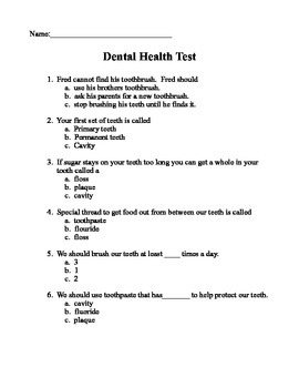 Dental Health Test
