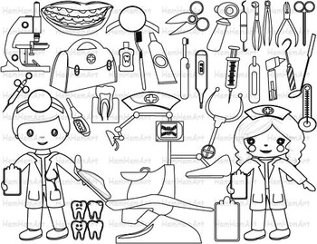 Dentist Outline Clip Art PNG,EPS medic line stamp red cros