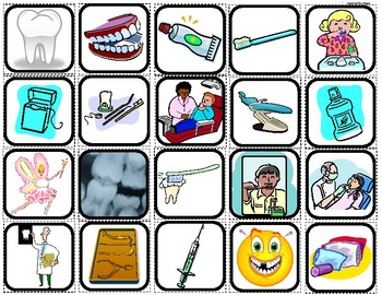 """""""Dentist & Teeth"""" Picture Matching/Memory Game/Flashcards"""