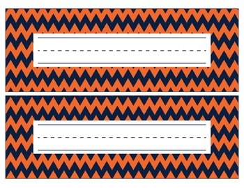 Denver Broncos Inspired Navy and Orange Editable Name Plat