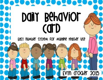 Departmentalized Behavior Card