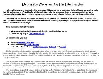 Depression Worksheet