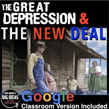 The Great Depression Unit /New Deal Unit - PPTs, Worksheet
