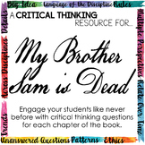 Critical Thinking Resource for My Brother Sam is Dead