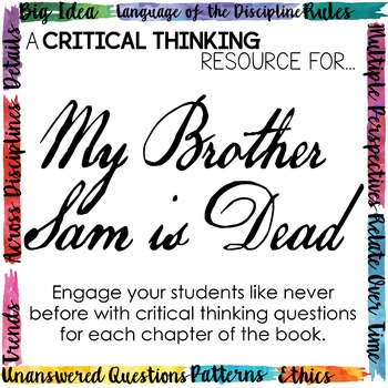 Depth and Complexity  Critical Thinking Resource for My Br