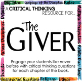 Critical Thinking Resource for The Giver