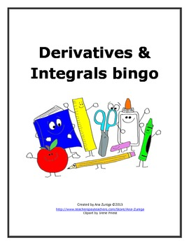 Derivatives and Integrals Bingo