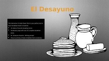 La Comida-Spanish Breakfast Foods-Comprehensive 14 slide P