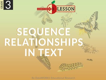 Describe Sequence Relationships in Text - Sequential Order