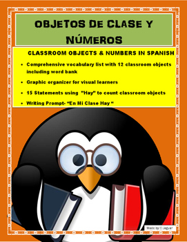 Spanish Classroom Project- Counting Classroom Objects usin