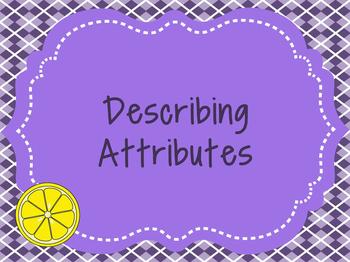 Describing Attributes