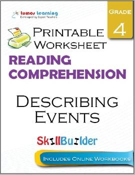 Describing Events Printable Worksheet, Grade 4