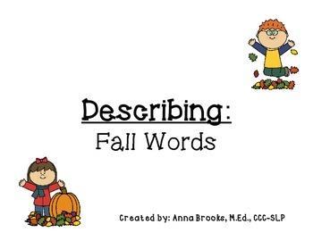 Describing - Fall Words