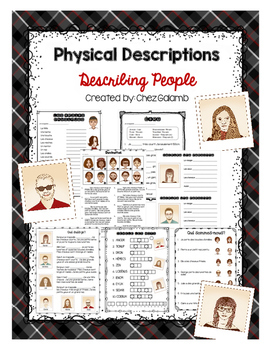 Describing People/ Physical Traits - FRENCH unit