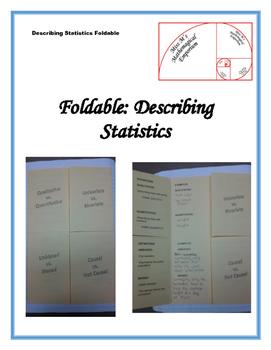 Describing Statistics Foldable