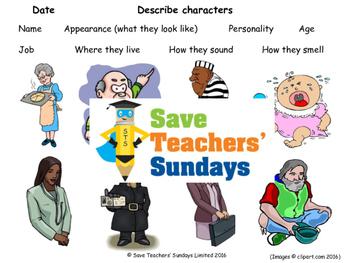 Describing characters PowerPoint, Model description and Vo