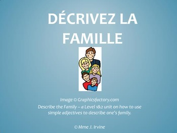 Describing the Family in French Lesson