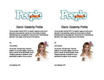 Description Writing- Celebrity