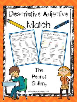 Descriptive Adjective Match (FREE)