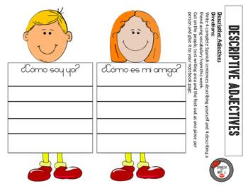 Descriptive Adjectives Interactive Notebook Page