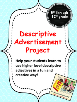Descriptive Advertisement Project
