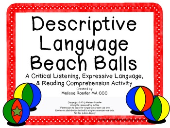 Descriptive Language Beach Balls~ Critical Listening, Exp.