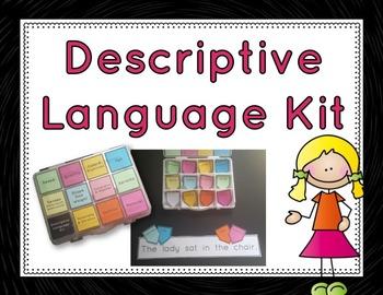 Descriptive Language Kit: sentence building activity for d