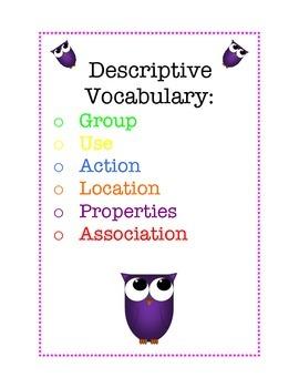 Descriptive Vocabulary