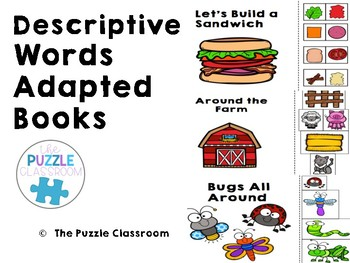 Descriptive Words Adapted books