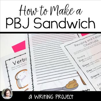 Descriptive Writing - How to Make  a PBJ activity for grades 4-6
