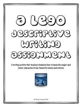 Descriptive Writing LEGO Character Activity